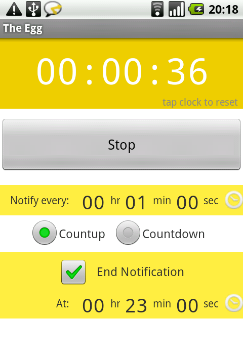 The Egg - Android Talking Stopwatch and Timer